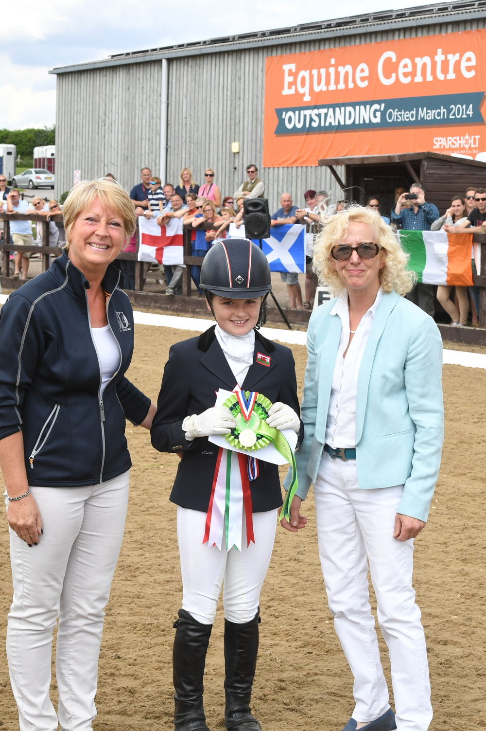 10-year-old Catrin Stewart with BD Chairman Penny Pollard and BYRDS Director Janet Horswill (Credit: Kevin Sparrow)