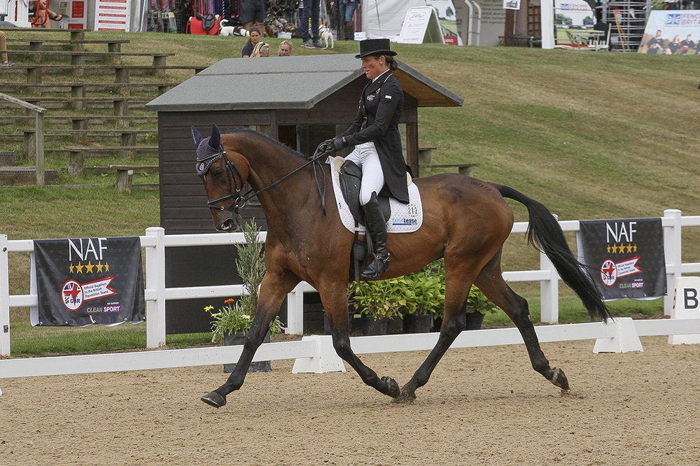 Caroline Powell and Flying Finish in the lead after day one of the dressage