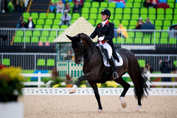Fiona Bigwood and Orthilia scored 74.342% (Credit: BEF/Jon Stroud Media