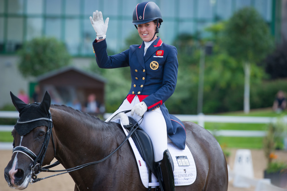 Fancy saying hello to Charlotte Dujardin? Be in with a chance with our competition Photo: Matthew Roberts