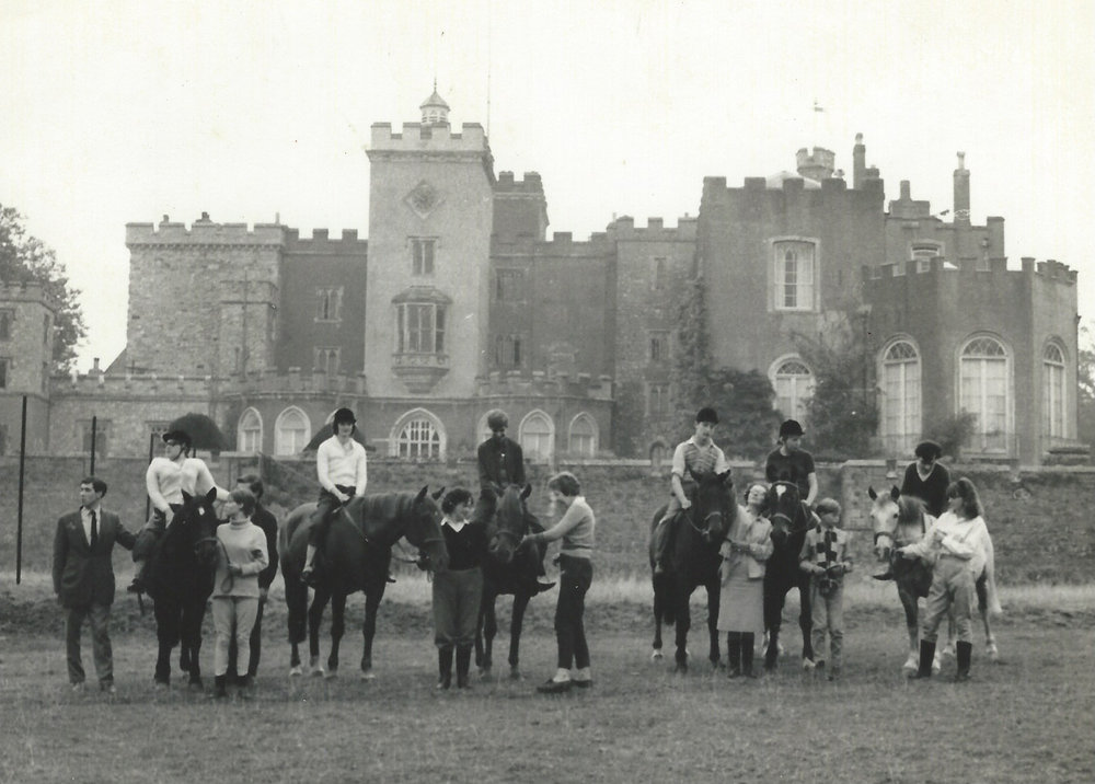 The group in 1966, with Powderham Castle in the background.