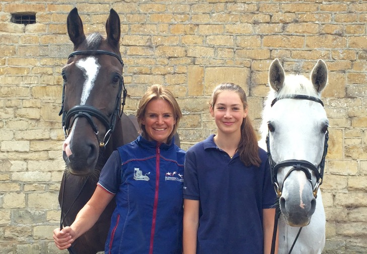 Jo Rimmer (left) with Issac Newton and Jessica Rimmer (right) and her 14.2hh pony, Irish After Shock