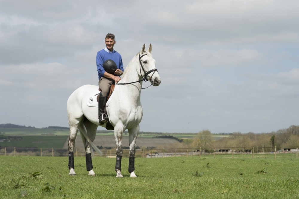 Andrew Nicholson's Avebury a star event horse who was sadly put down today following a diagnosis of a tumour (Credit: Edward Whitaker/Racing Post Books)