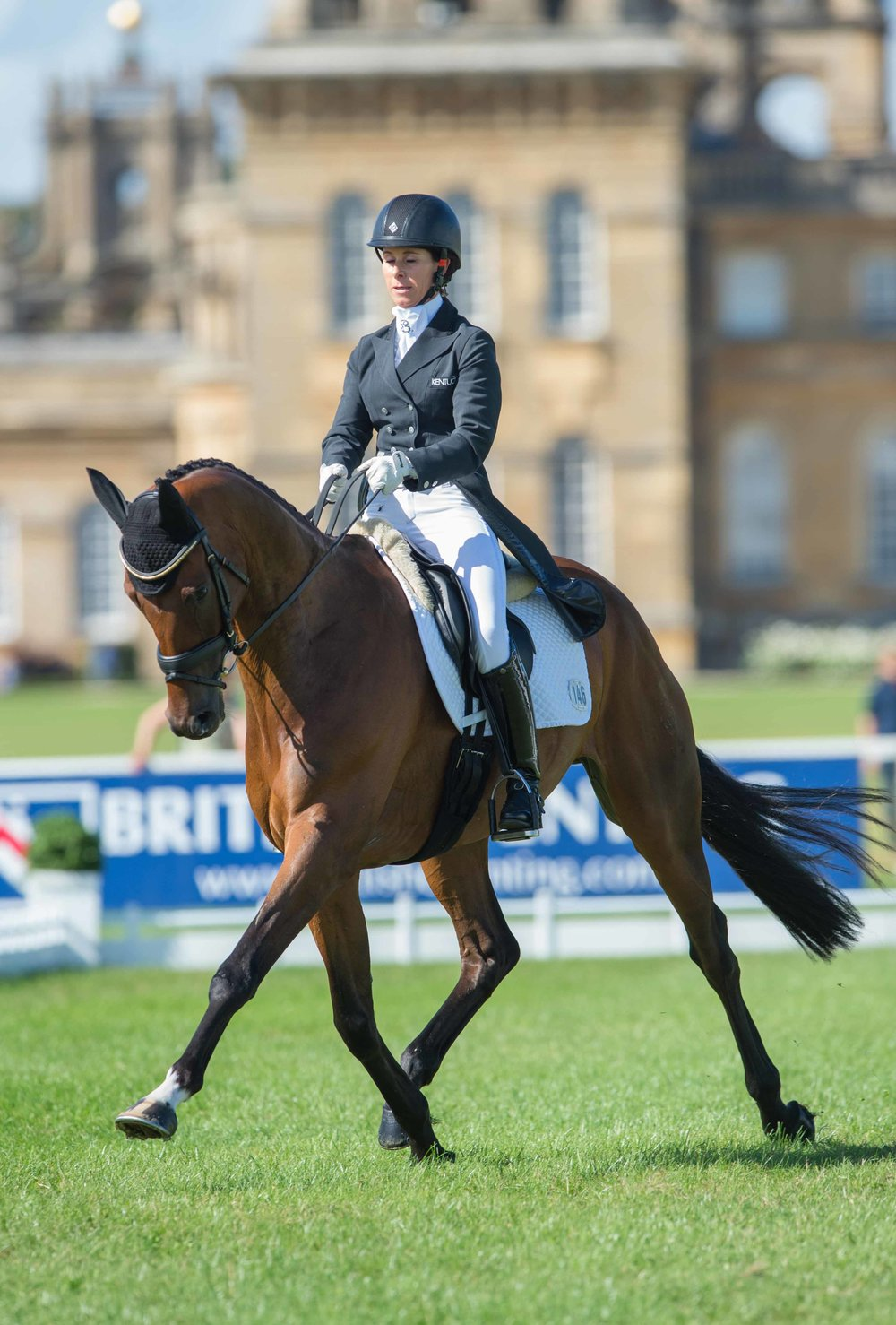 Bettina Hoy riding Seigneur Medicate (Credit: Adam Fanthorpe/Blenheim Palace International Horse Trials)