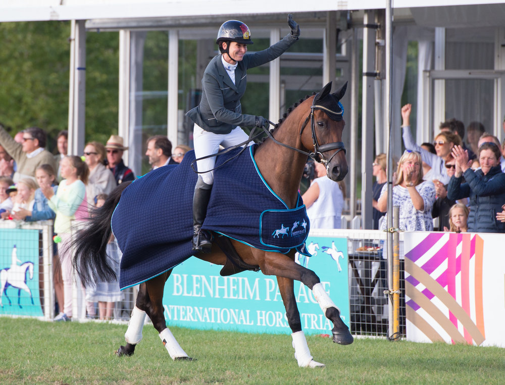 Bettina Hoy and Seigneur Medicate win the CCI3* at Blenheim (Credit: Adam Fanthorpe/Blenheim Palace International Horse Trials)