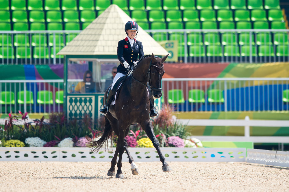 Sophie Wells (GBR) riding Valorous (credit: BEF/Jon Stroud Media)