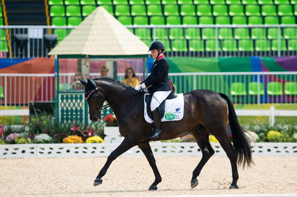 Natasha Baker (GBR) rode Cabral to achieve a score 73.400% (Credit: BEF/Jon Stroud Media)