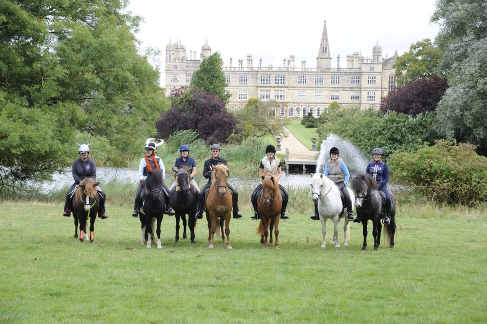 Icelandic ponies took to Burghley estate to raise money for charity (Credit: JPC Images)