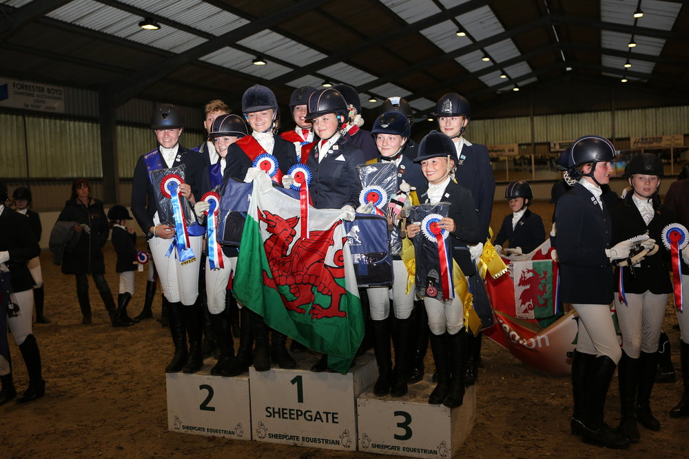 Winning Novice Champions Team Calon Lan  (Credit: Sheepgate Equestrian Centre)