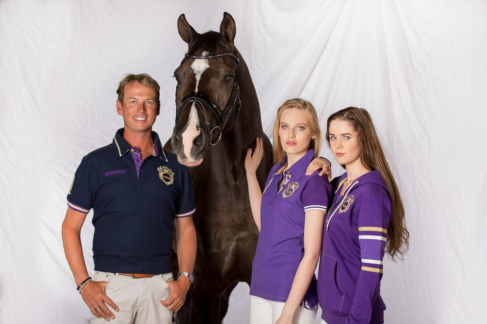 The Valegro clothing collection in its hallmark blueberry shade