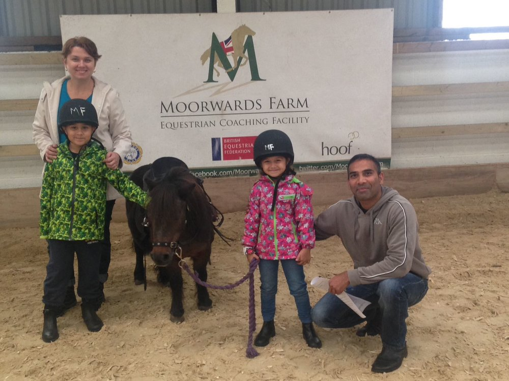 Musavir Mohammed and family with little Bella at Moorwards Farm (Pic: BEF)