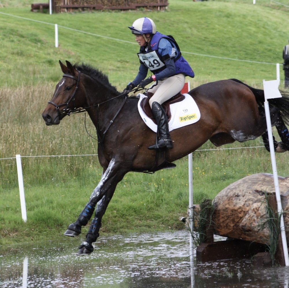 Louisa Milne-Home tackles the course at Blair Horse Trials, one of two International events left in Scotland