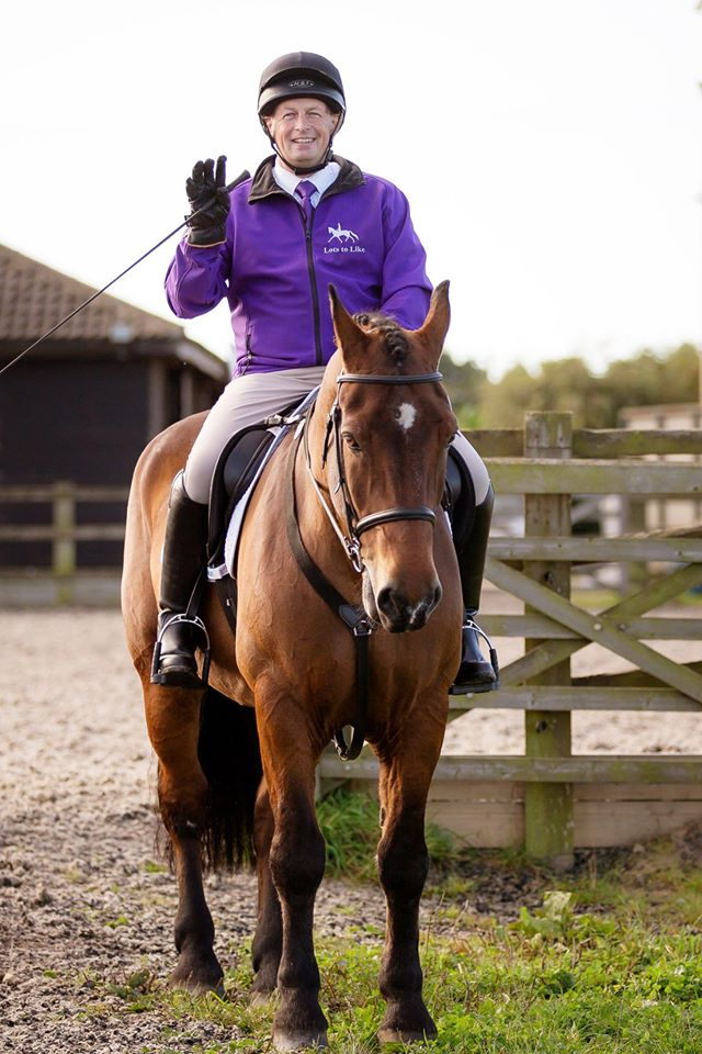 Dave has worked hard with Coda to build trust and a close bond with his horse (Picture: Lianne Gray Photography)
