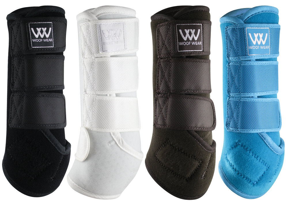 The Woof Wear Dressage Wraps are available in four great colours