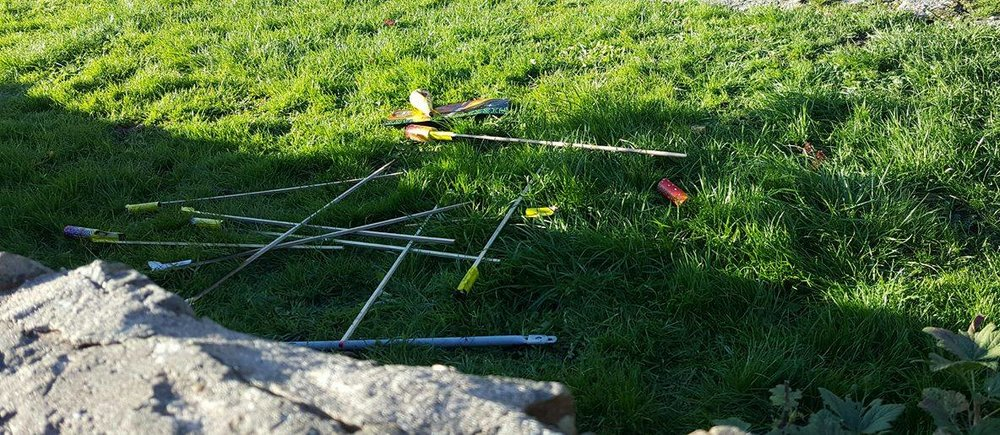 It's thought that at least nine rockets were lit in Red's field (Pic: Laurie Atherton)