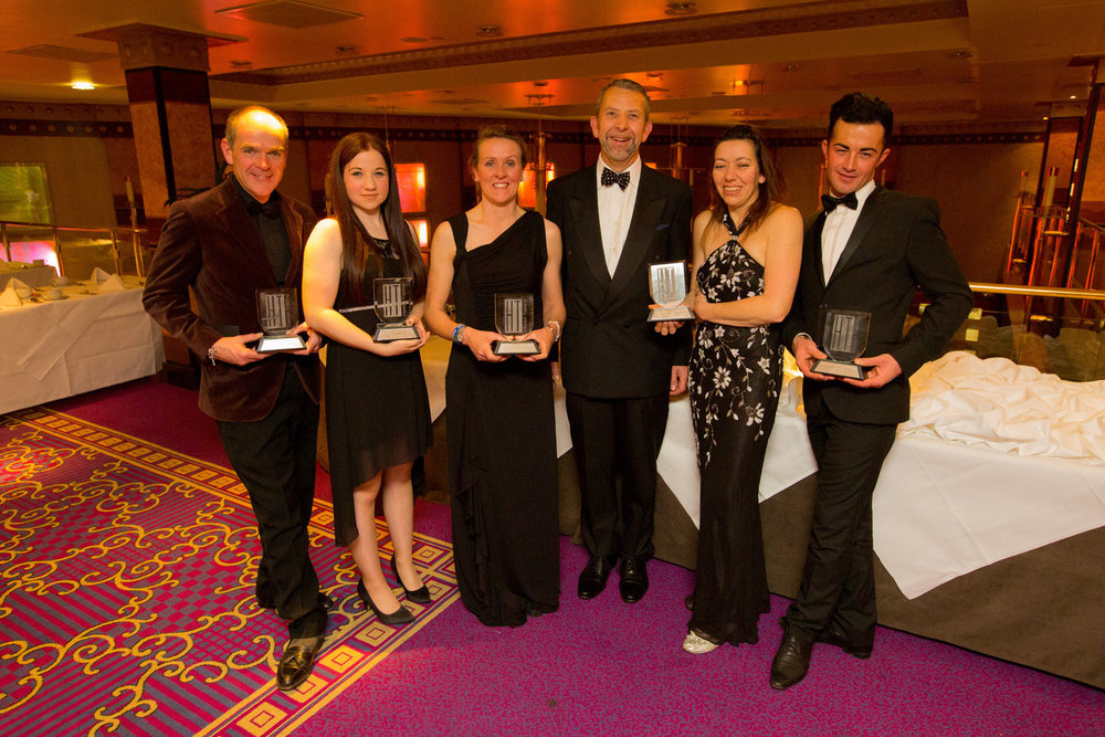 2015 award winners with Chris Hewlett, Managing Director at Haddon Training