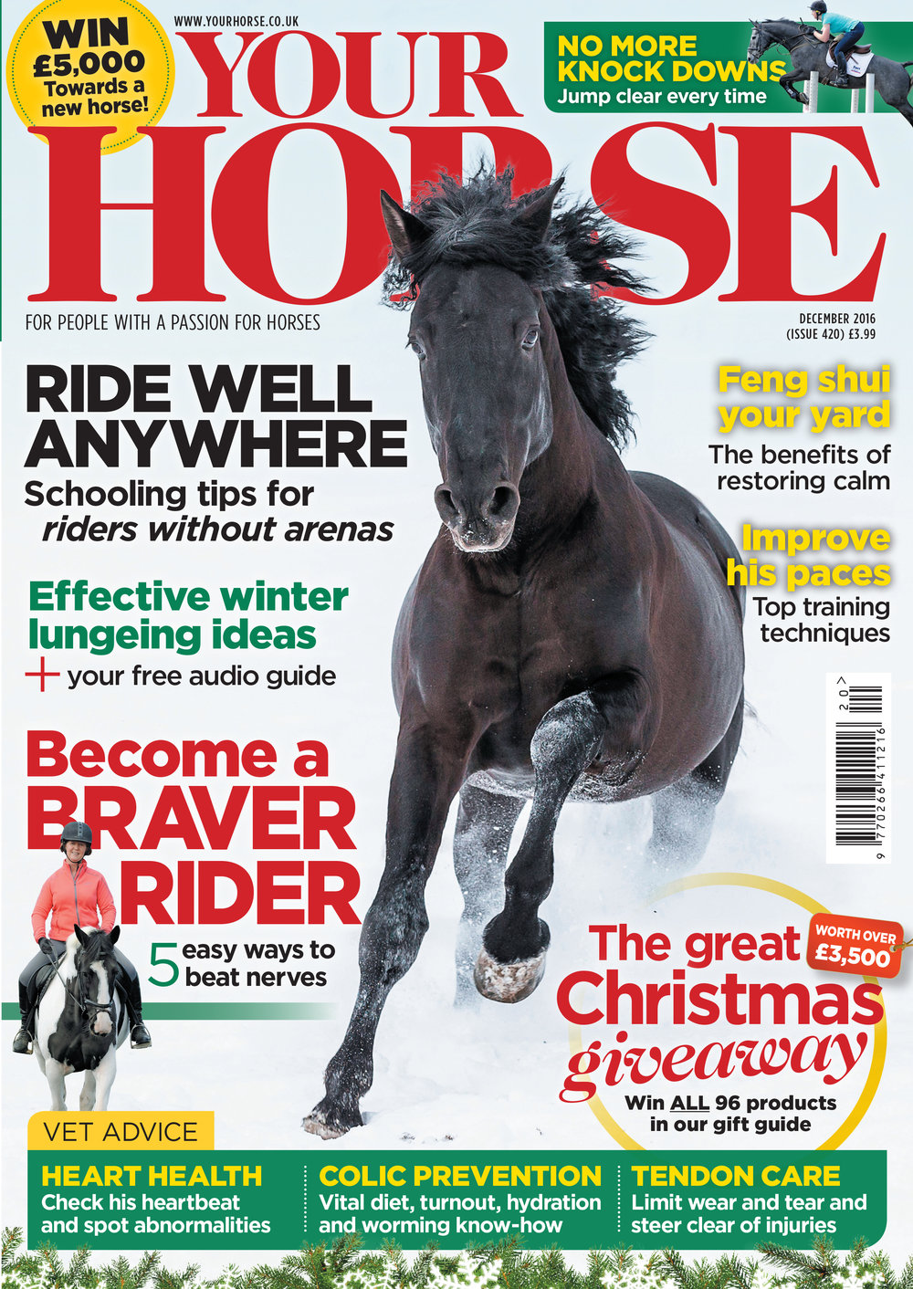 December Your Horse magazine cover