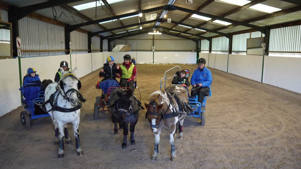 Riders and drivers at Chariots of Fire Equestrian Centre near Lockerbie are enjoying the new surface supplied by Martin Collins Enterprises