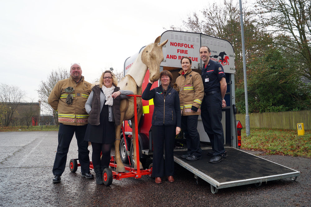 Redwings has loaned a trailer to help NFRS with their training (Pic: Redwings Horse Sanctuary)