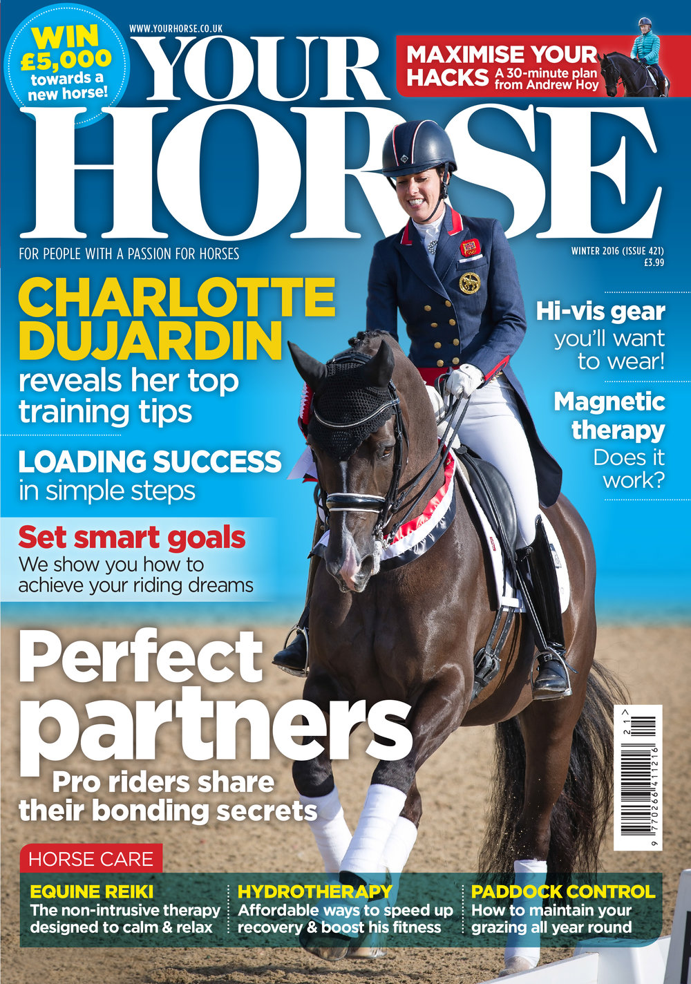 Your Horse magazine winter 2016 cover