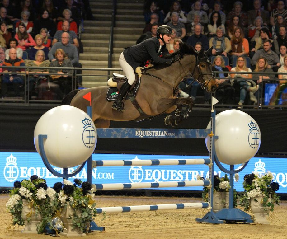 Billy Twomey rides Diaghilev home to victory (Credit: Gav Hookham/Liverpool International Horse Show)