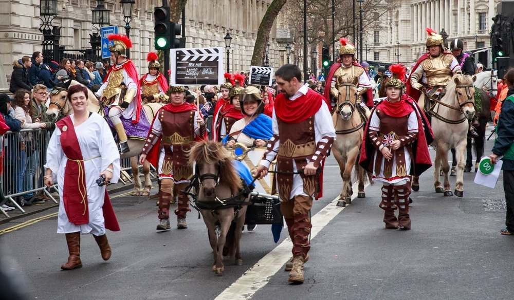 All ages of horses and riders paraded the capital's streets as part of the All The Queens Horses Parade