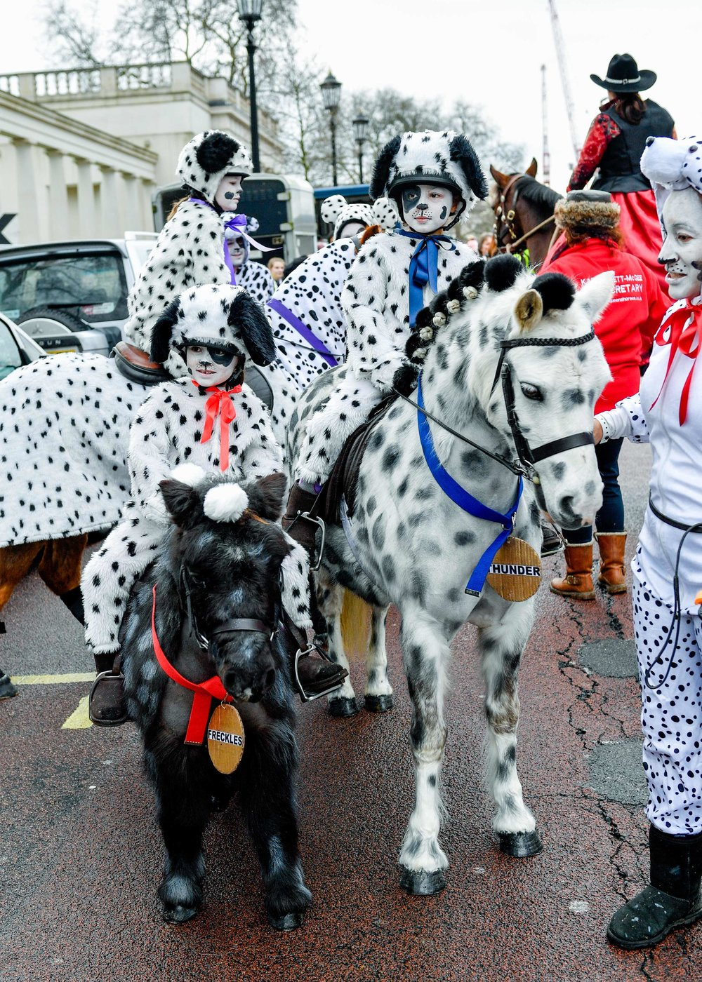 The 101 Dalmatians marched as part of the New Years day parade