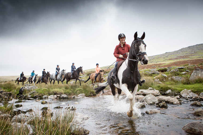 Explore Dartmoor on horseback Pic: Polly A Baldwin/ Liberty Trails
