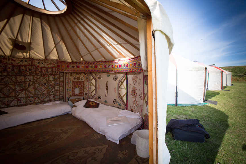 Rest at night in a luxury yurt Pic: Polly A Baldwin/ Liberty Trails