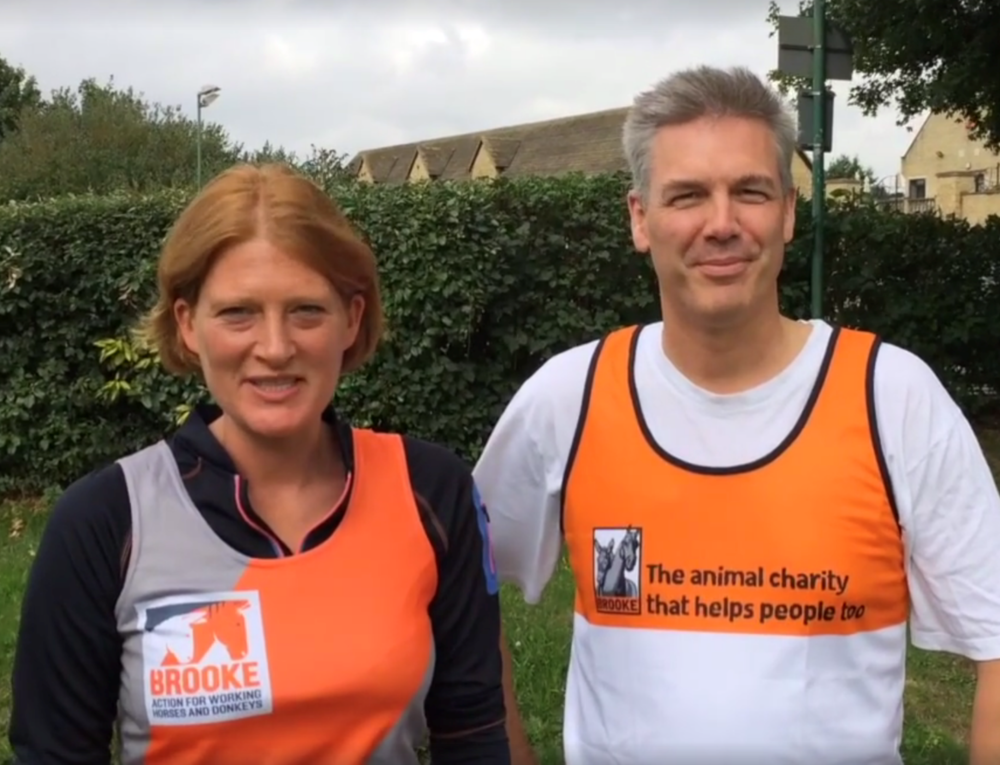 Carolyne and Brian are training hard for their 10 marathons in 10 days challenge
