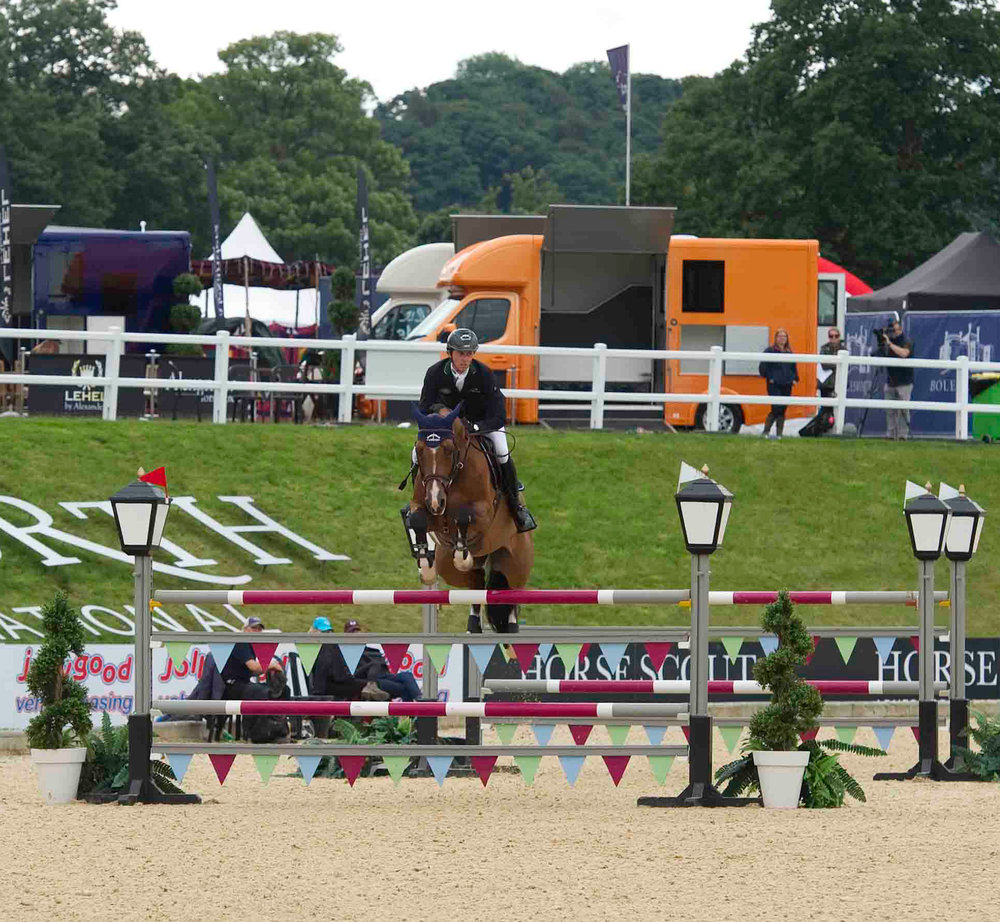 Ben Maher and Cliff 67 at Bolesworth 2016 (Photo supplied by British Showjumping)