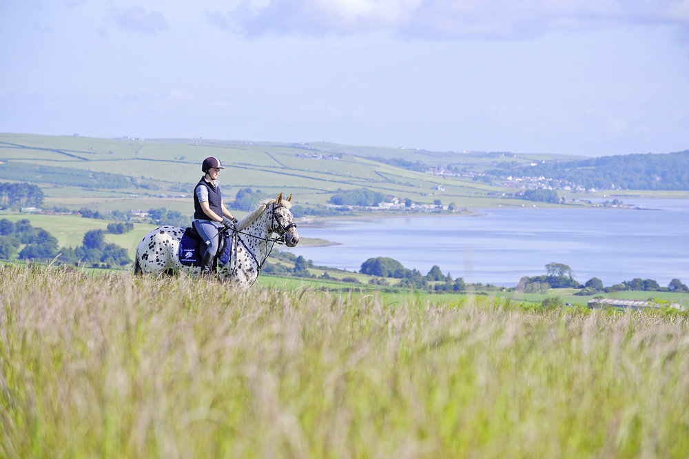 Steffanie Singleton loves riding her horse Chuienne on Gallow hill