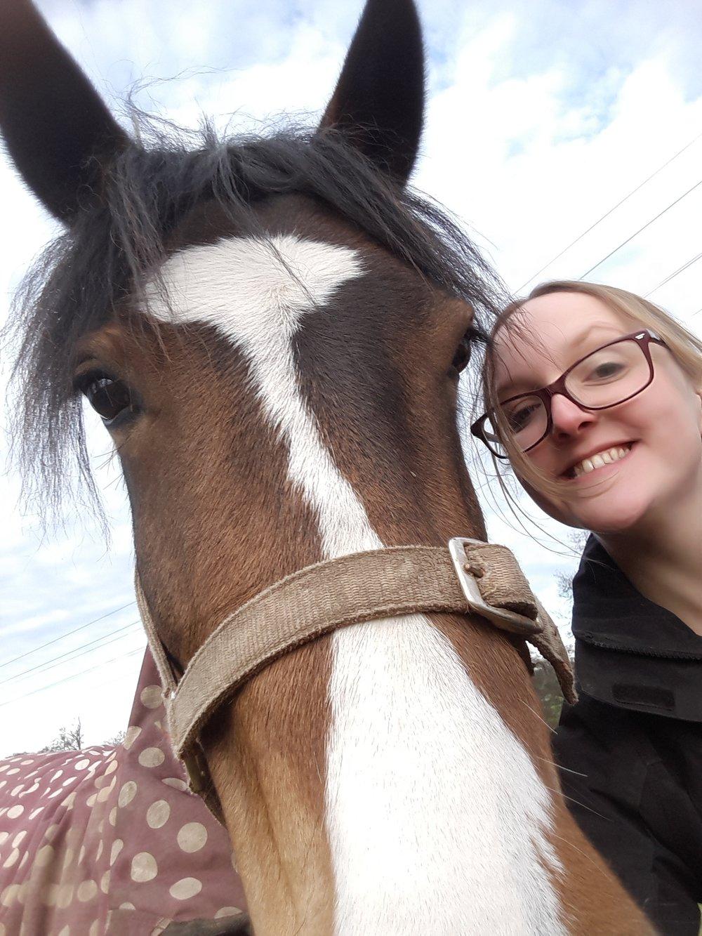 Rachel and her horse Ruby take a selfie.jpg