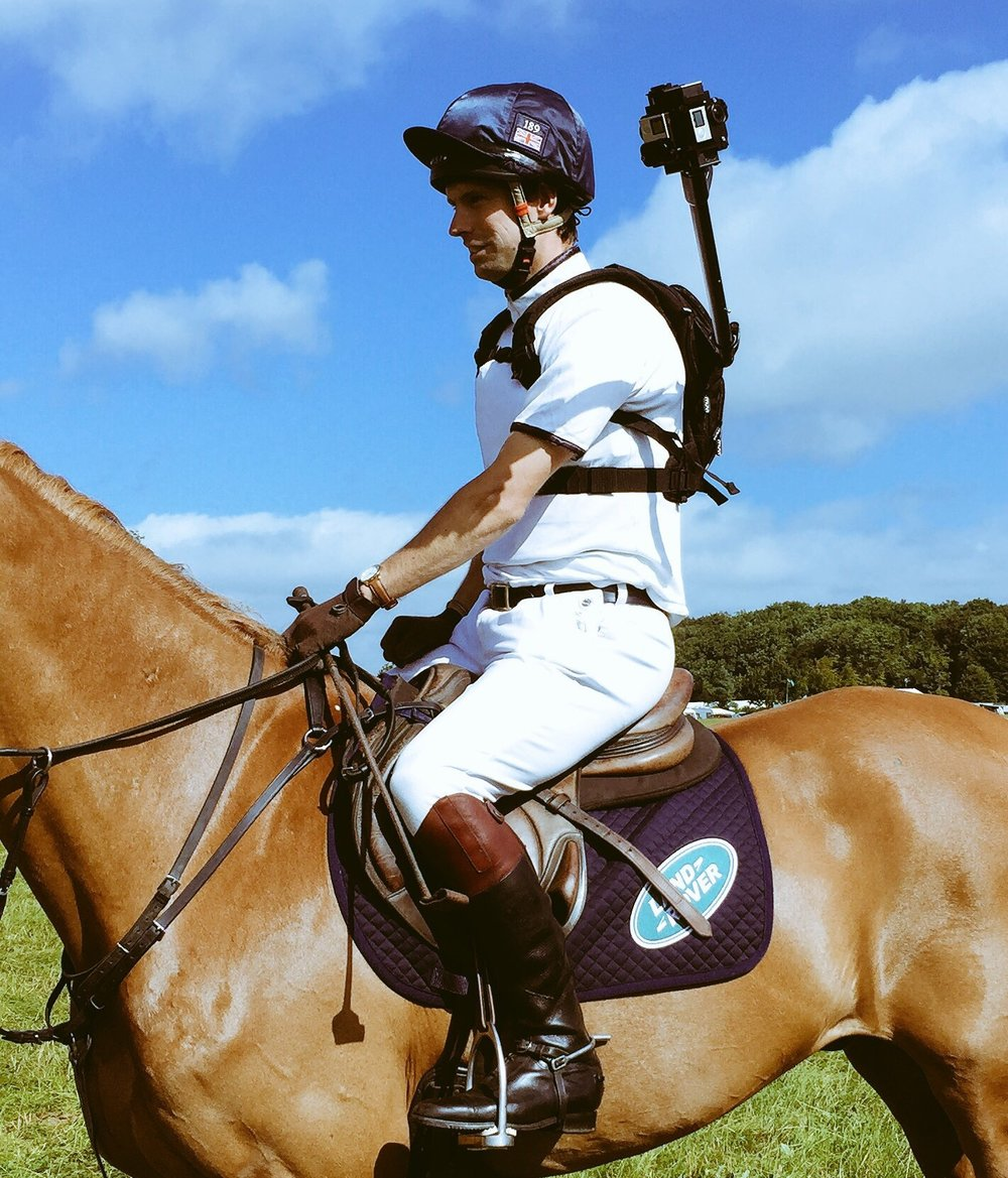 Harry Meade wore a special video camera to film a ride around the cross-country course at Gatcombe Park