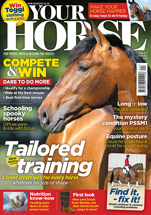 Your Horse April issue magazine cover