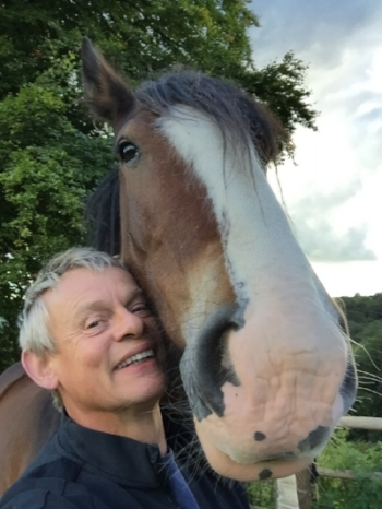 Watch Martin Clunes on Horse & Country TV later this month