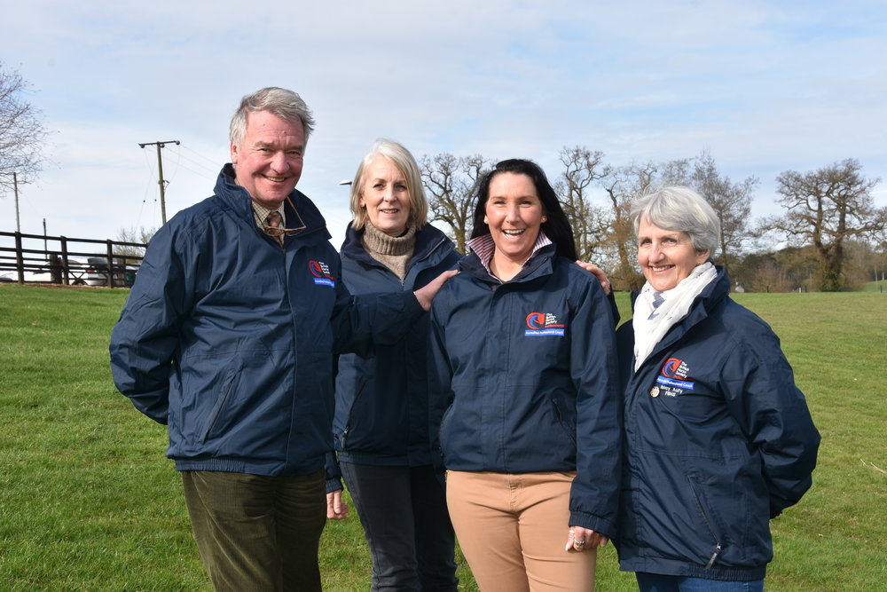Yogi Breisner MBE FBHS, Sabrina Jones FBHS, Sam York FBHS and Islay Auty FBHS (Pic: BHS)