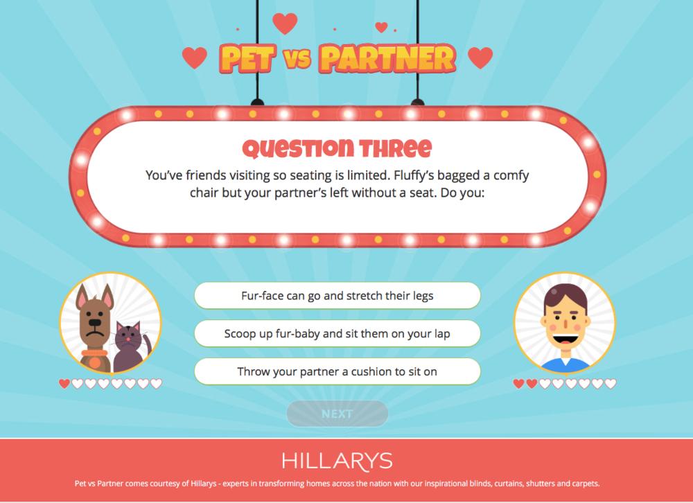 Hilarys horse v partner quiz