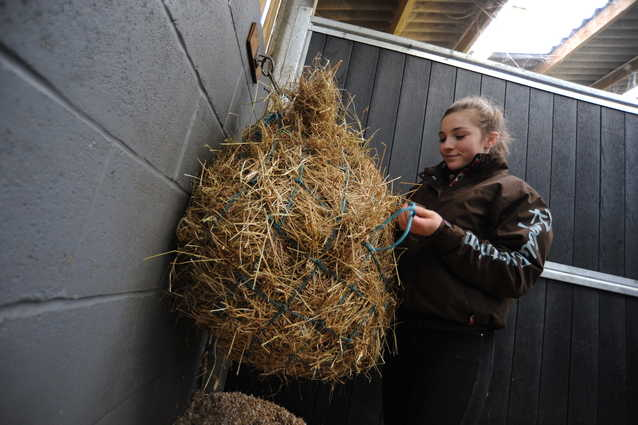 Weighing hay means you can keep a close eye on how much your horse is eating