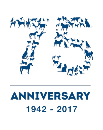 75 years logo Animal Health Trust