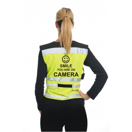 Equisafety's 'Smile you're on Camera' vest are the perfect accompanyment to the new EQUIPROCAM