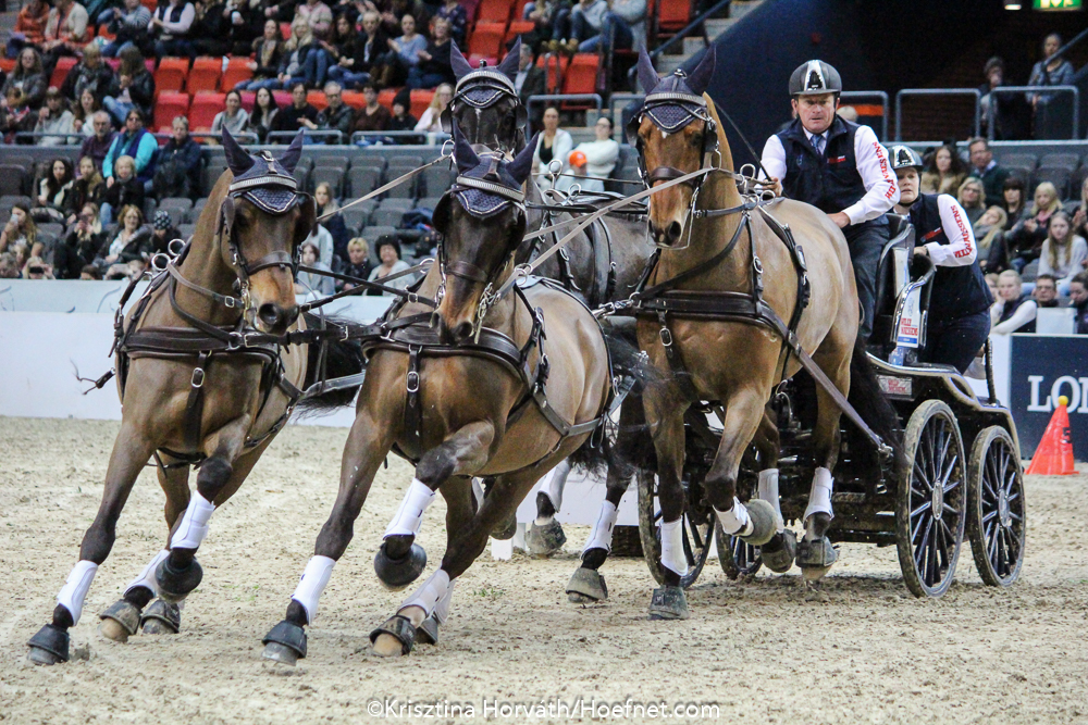 Australian World Carriage Driving Champion Boyd Exell, has won all three competitions to date