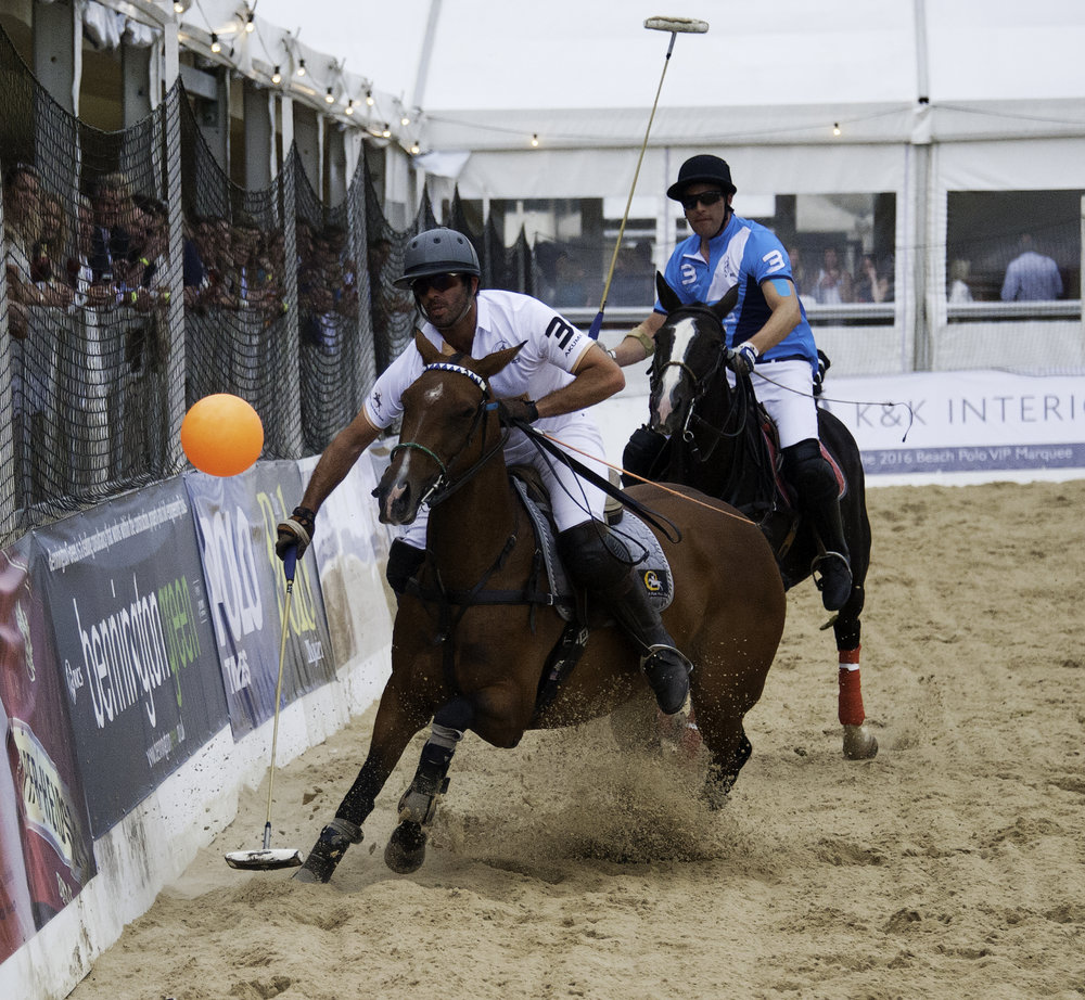 beach polo action
