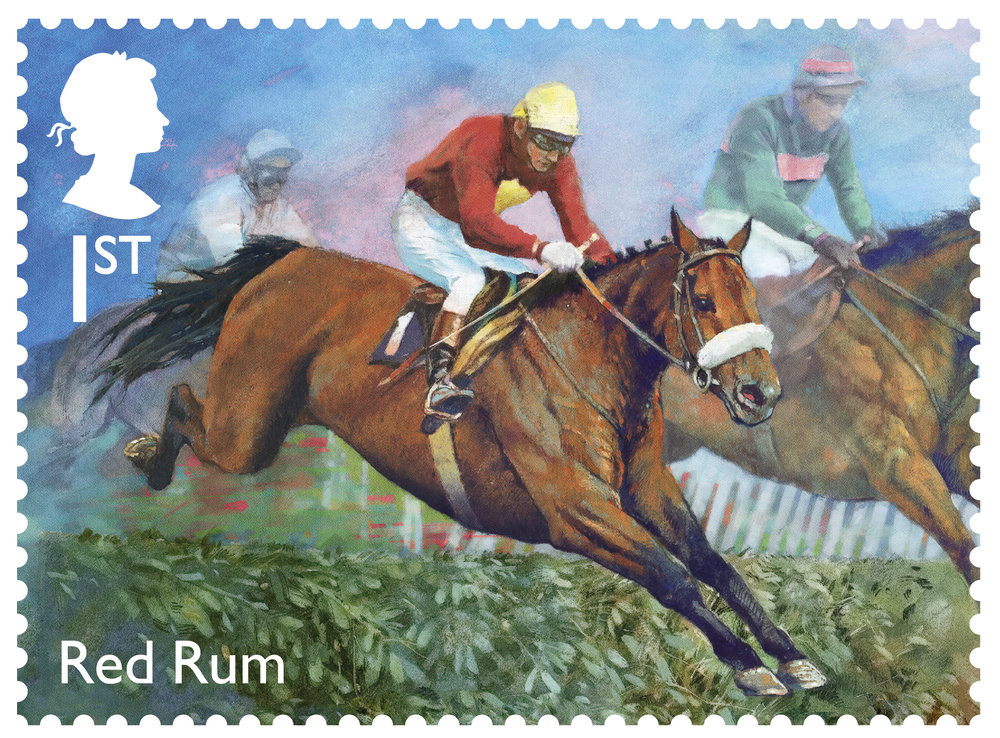 Royal Mail commissioned the artwork by renowned equestrian artist, Michael Heslop