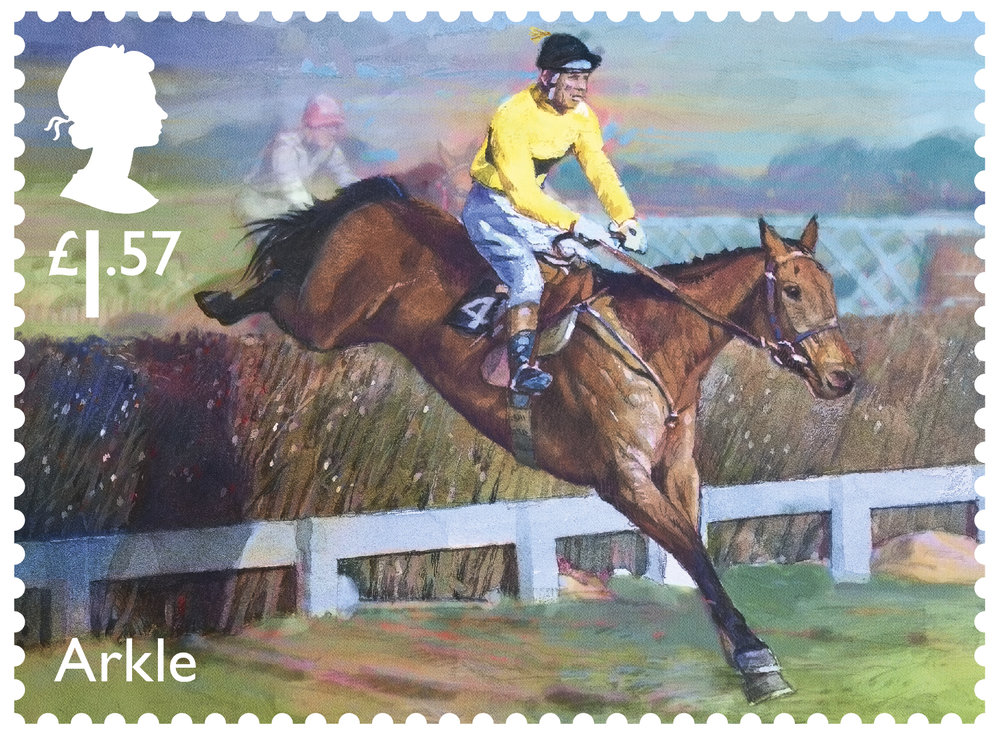 Racehorse Legends Arkle stamp 400%.jpg