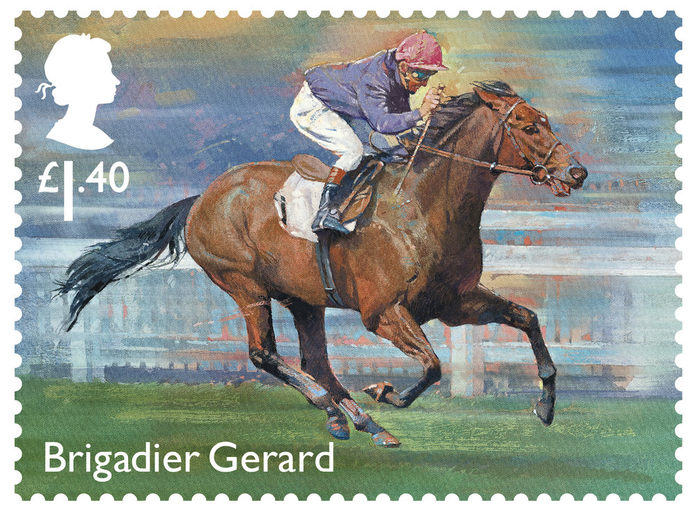Racehorse Legends Brigadier Gerard stamp 400%.jpg