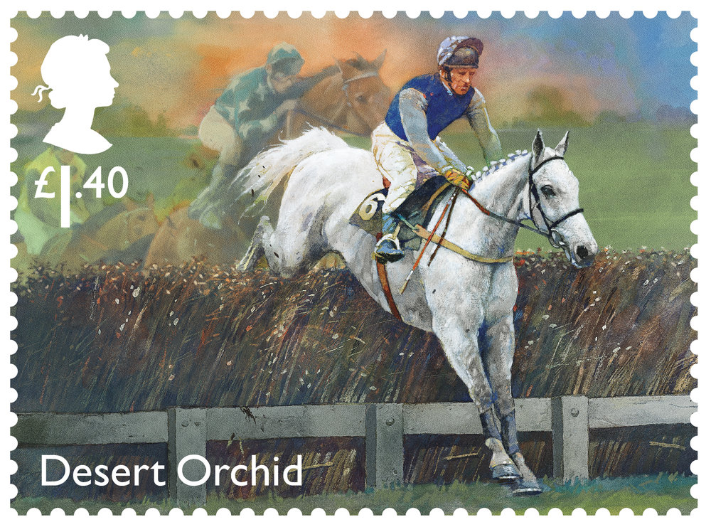 Racehorse Legends Desert Orchid stamp 400%.jpg