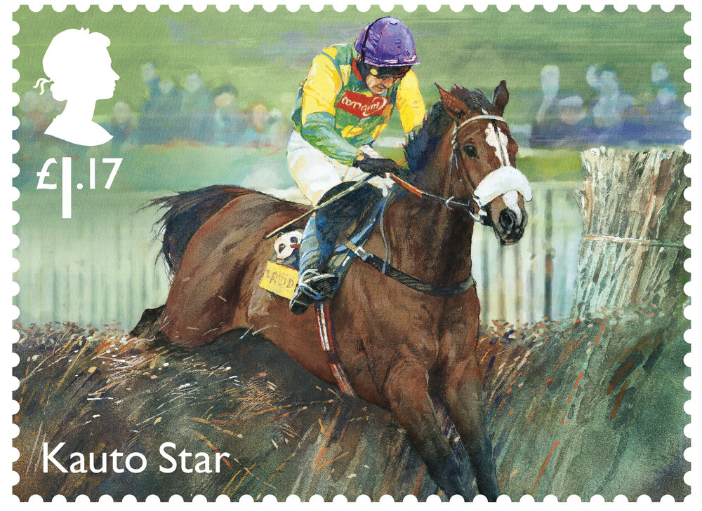 Racehorse Legends Kauto Star stamp 400%.jpg