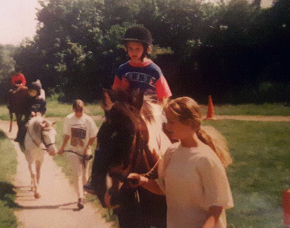 My first riding lesson as a child!