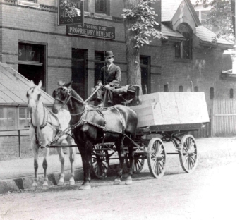 Wilbur Fenelon Young delivering Absorbine products back in 1892